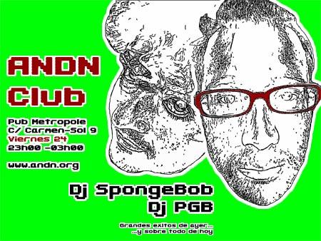 SpongeBob y PGB en ANDN Club